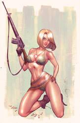 Danger Girl Revolver alt. cover by JohnRauch
