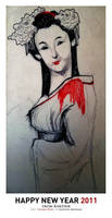 Happy New Year - Geisha Doll by karthik82