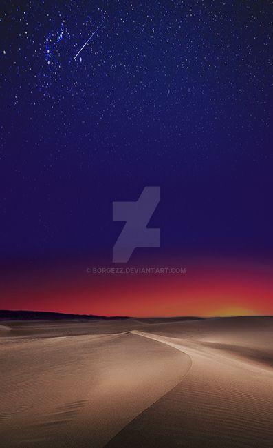 Desert sunset dream by Borgezz