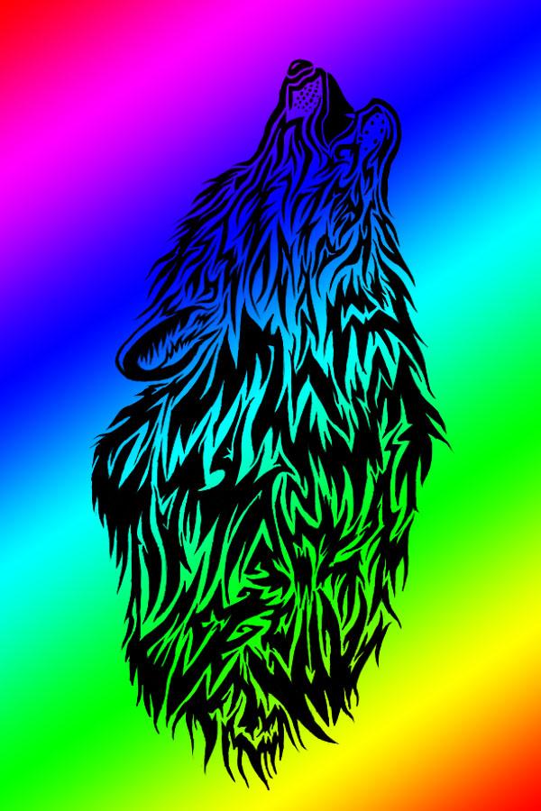 rainbow wolf wallpaper - photo #5