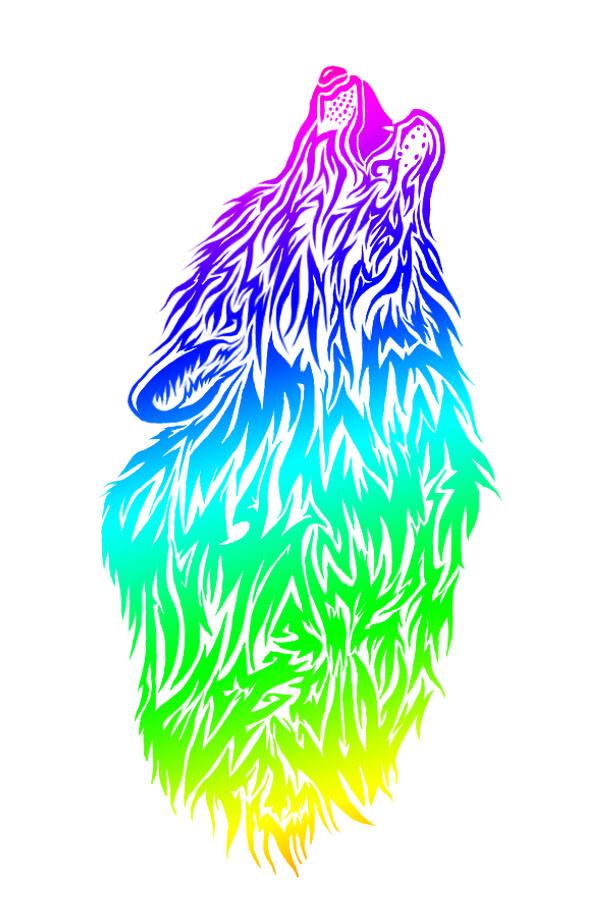 rainbow wolf wallpaper - photo #36