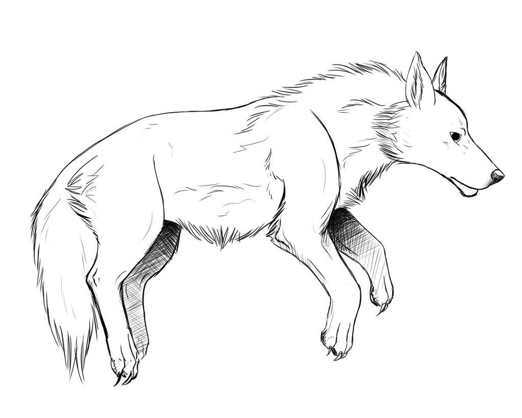 Realistic Wolf Howling Coloring Pages