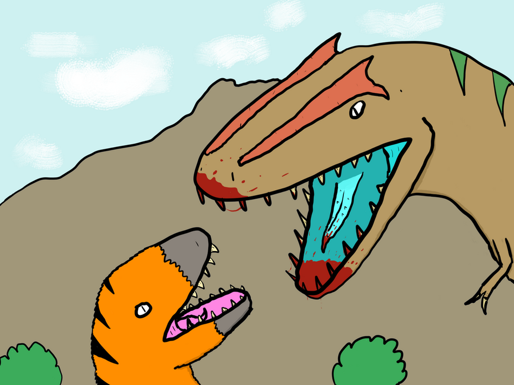 Prehistoric Face-Off by MrBuscheese