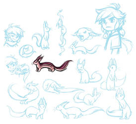 Bonsu doodles by Makyui