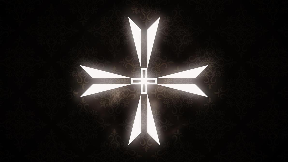 Glowing Teutonic Cross by KacperFox