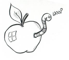 Worm saying 'Woo' by ACGalaga