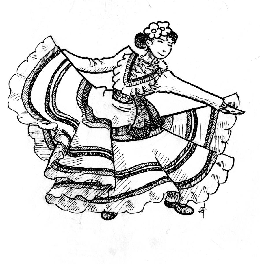 coloring pages flamenco dancers - photo#8