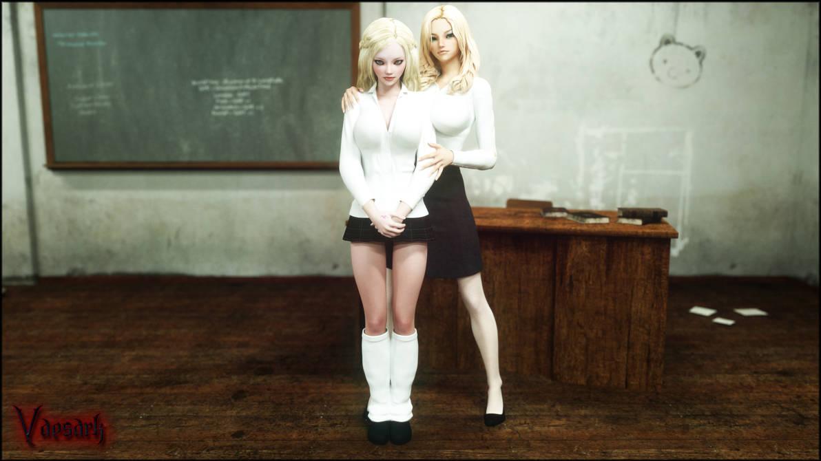 Sania and Veronika by Vaesark
