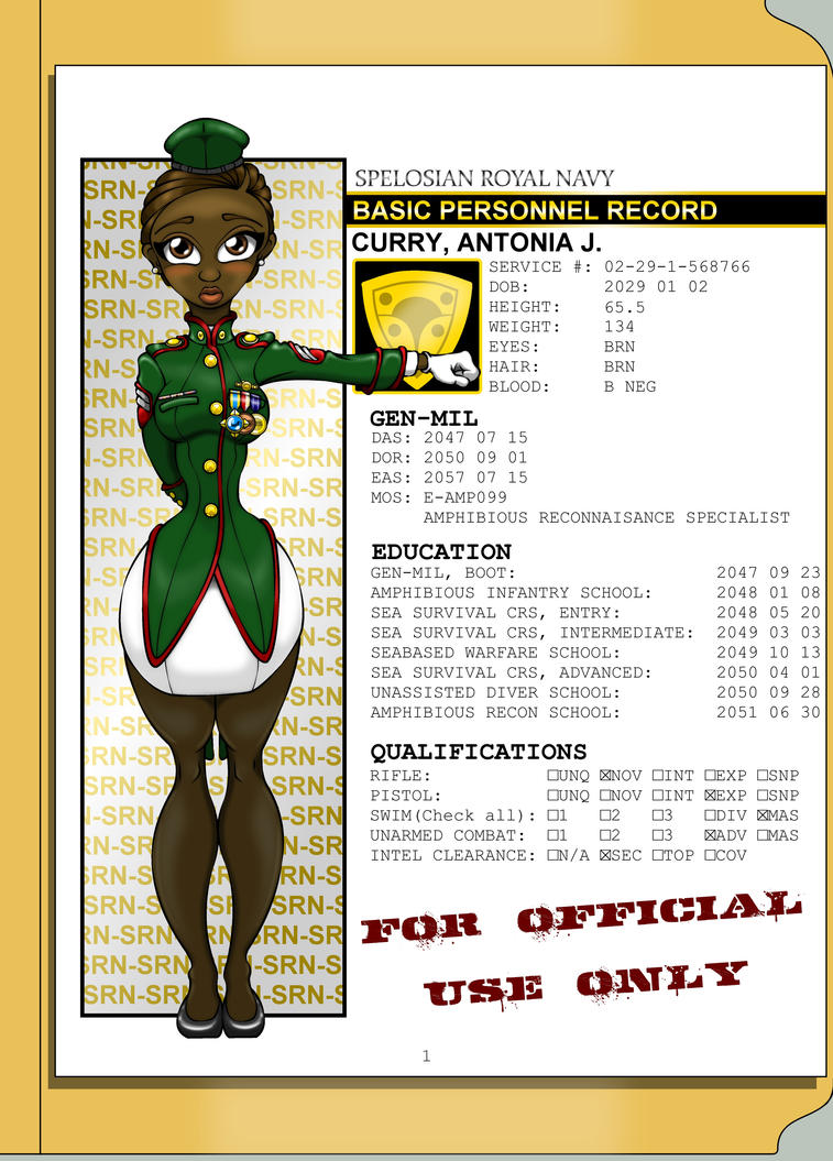 OC: Antonia Curry's Mil File by Soulbrotha