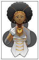 Queen of Clubs 2 by lamontrobinsonart