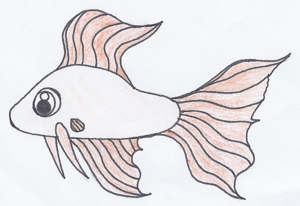 Simple Fish Line Art : Fish drawing by princessbelle on deviantart