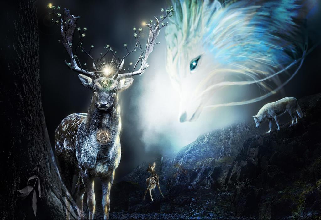 The Deer by aweldeng