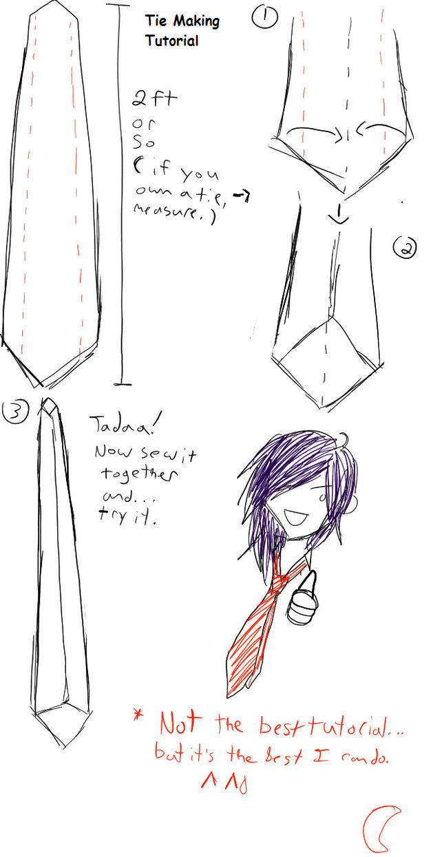 Tie making tutorial by 275 267 on deviantart tie making tutorial by 275 267 ccuart