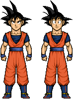 Goku in Cell Saga and Boo Saga by riddickdj