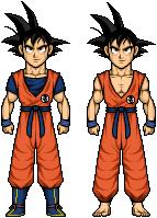Goku in Saiyans Saga and Frieza Saga by riddickdj