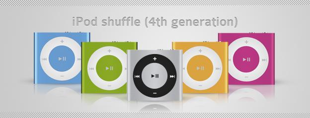 iPod shuffle - 4th generation by ICEwaveGfx