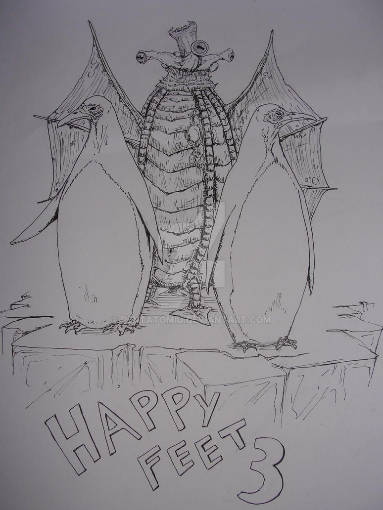 Inktober #13 H.P. Lovecraft's Happy Feet by Pentatomid