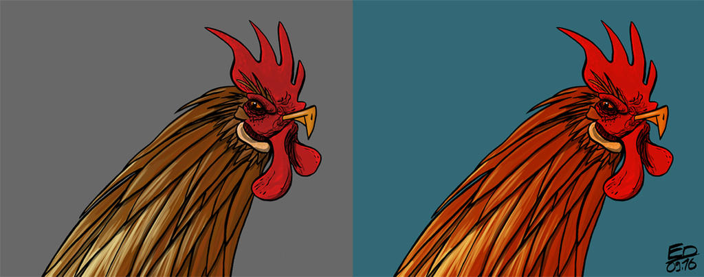Evil rooster by Rhumer