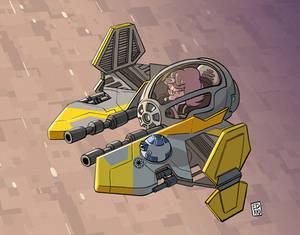 SW - Anakin interceptor (Eta-2 Actis)