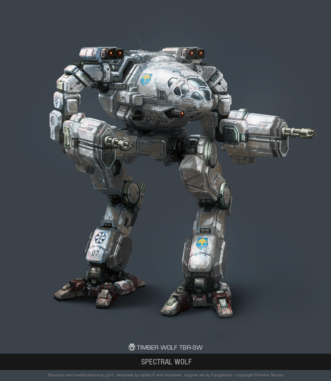 mwo timber wolf spectral wolf by user000000000001 on