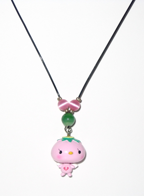 Pink Kappa Angel Necklace by bumblefly