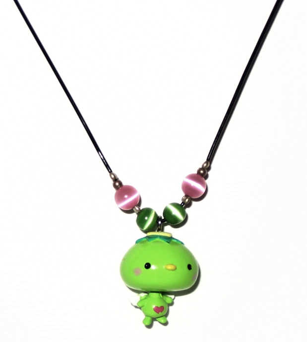 Green Kappa Angel Necklace by bumblefly