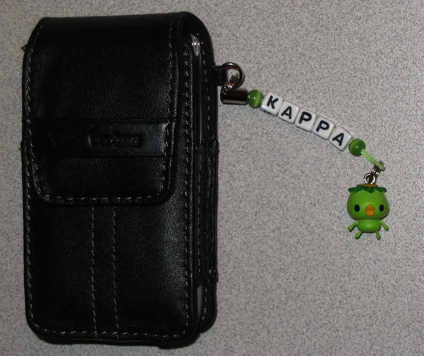 Kappa Cellphone Charm by bumblefly