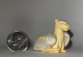 Sculpey Winged Lion by bumblefly