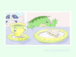My Kappa Tea Wallpaper by bumblefly