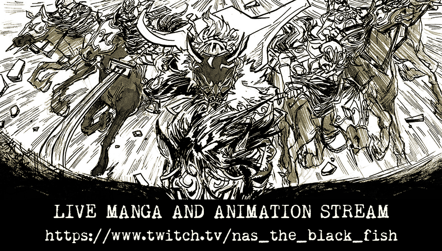 Black Fish Manga and Animation TWITCH by raging-akujiki