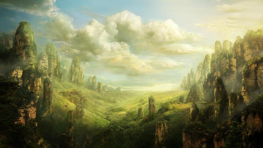 valley by PulpoGlow