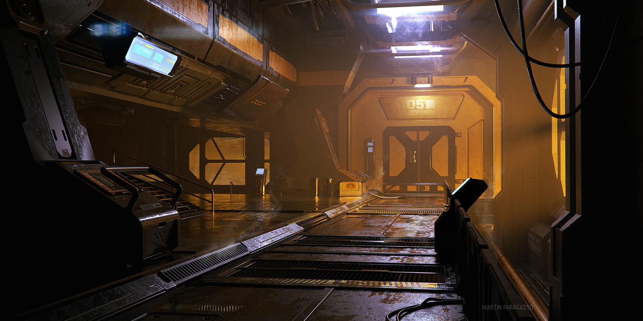 Industrial Corridor by PulpoGlow