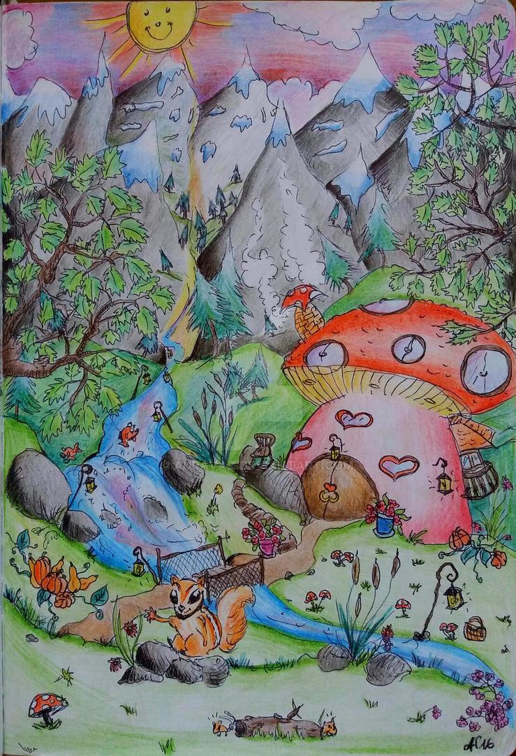 The Mushroom Field by auravaz
