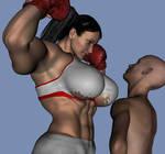 female boxer intimidation
