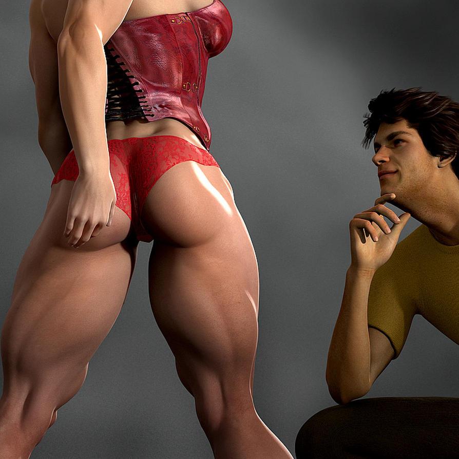 muscle ass girl