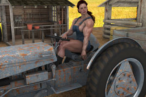 Farm girl muscle