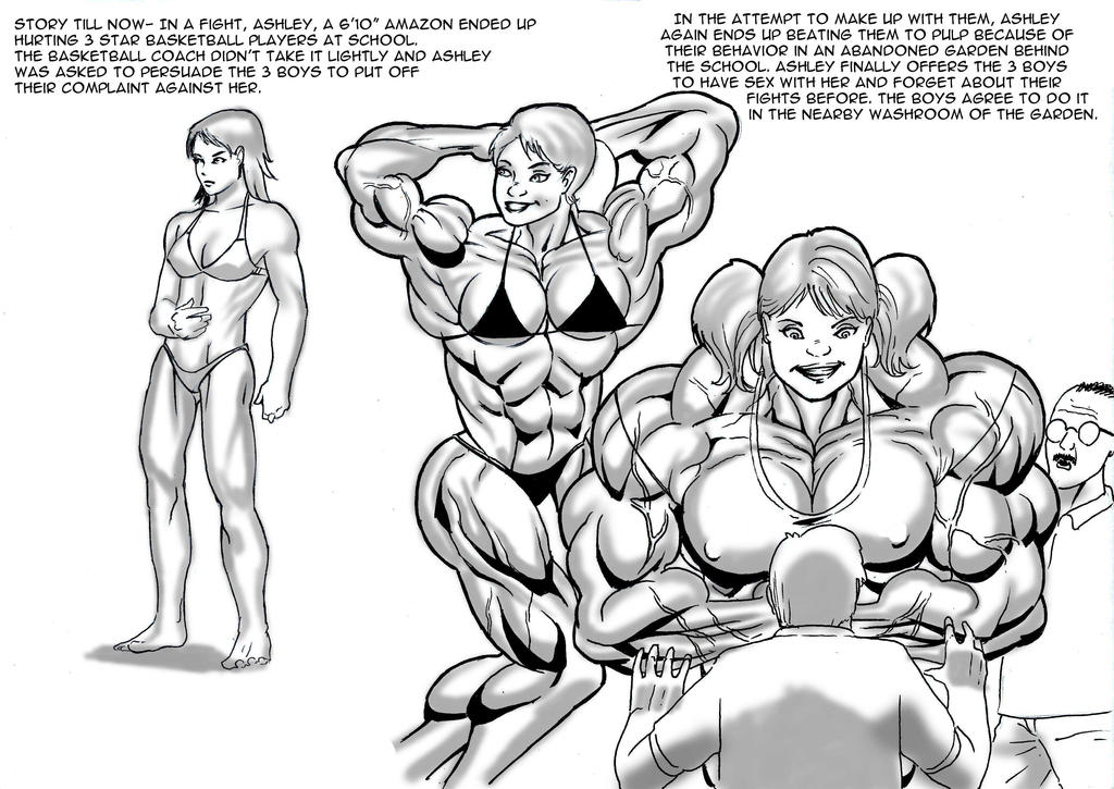 semester 2 part 2 In a fight, ashley, our 6'10'' musclebound amazon girl, ended up hurting three star basketball players at school the basketball coach didn't take this lightly, and ashley risked being sent from school.