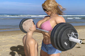 After his first encounter with a musclewoman by jstilton