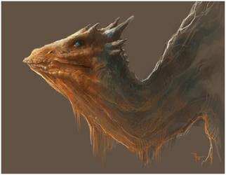 Dragon sketch by Vindrea
