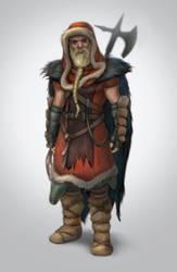 Guy with an axe and a beard