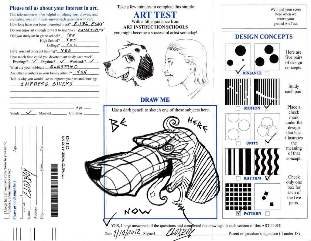 Art Quiz : Art test by derklox cloxboy on deviantart