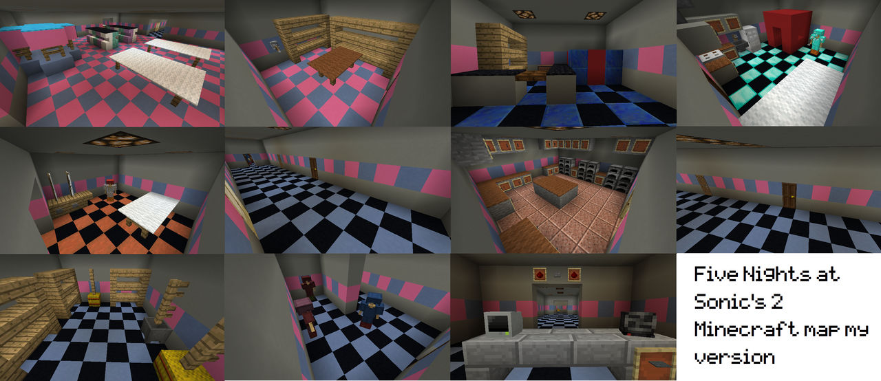 Five Nights at Sonic's 2 Minecraft map my version by