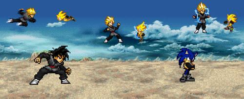 Goku Black vs Infinity Sonic