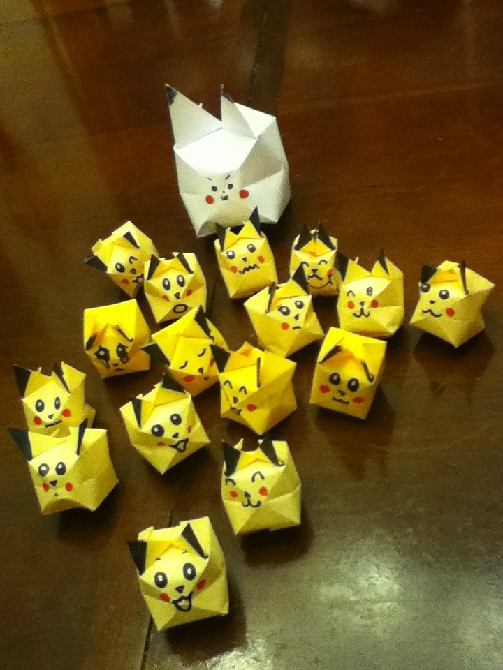 Origami Pikachu Army By FearlessLullaby