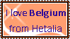 I love Hetalia Belgium Stamp by FearlessLullaby