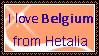 I love Hetalia Belgium Stamp by FearlessLullaby