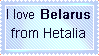 I love Hetalia Belarus stamp by FearlessLullaby