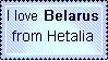 I love Hetalia Belarus stamp by FearlessLullaby