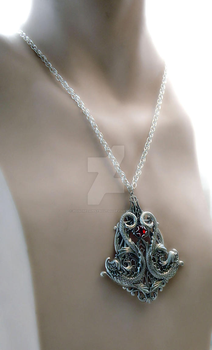 in men urban pendant male for necklace product stainless jewellery poseidon snake steel