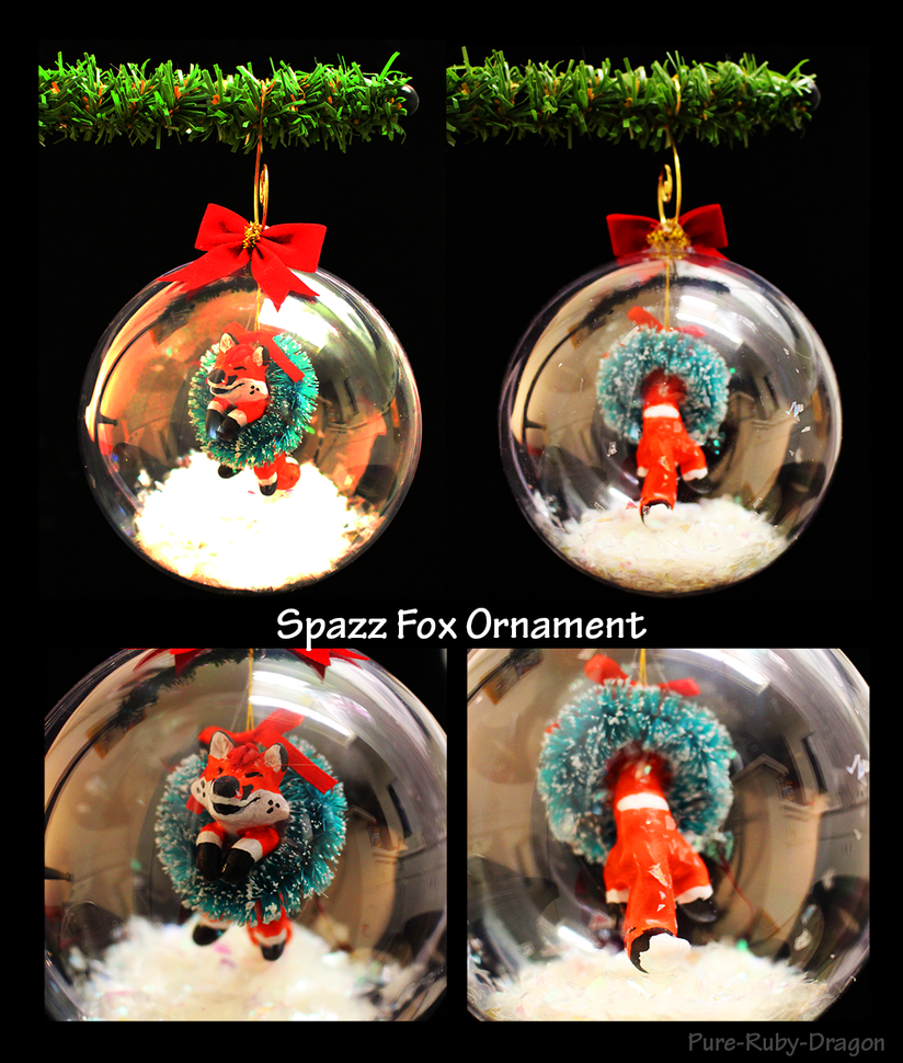 SpazzFoxOrnament by Pure-Ruby-Dragon